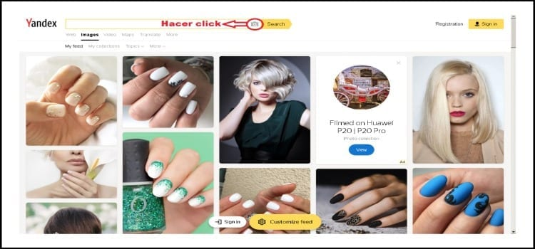 Yandex búsqueda imágenes