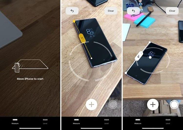 Aplicación Measure de iOS 12