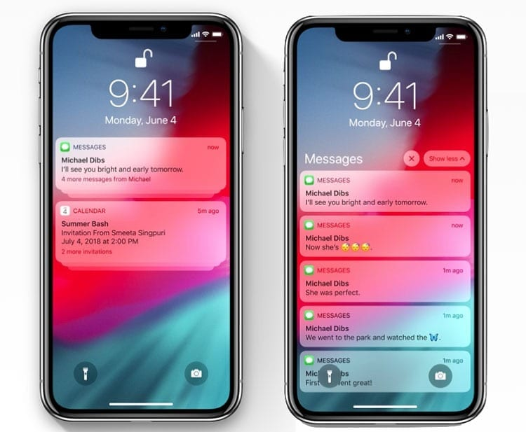 Notificaciones iOS 12