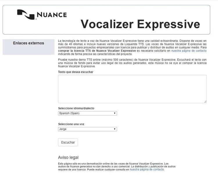 Nunance Vocalizer Expressive