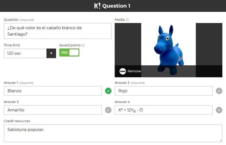 primera pregunta cuestionario kahoot