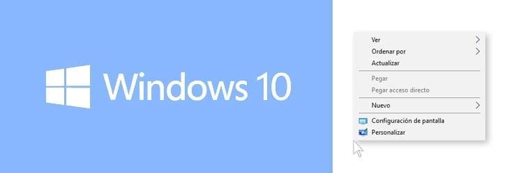 Solución clic derecho windows 10