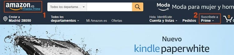 Suscribirte a Amazon Prime