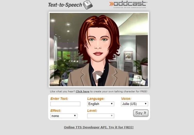 Text to Speech de Oddcast