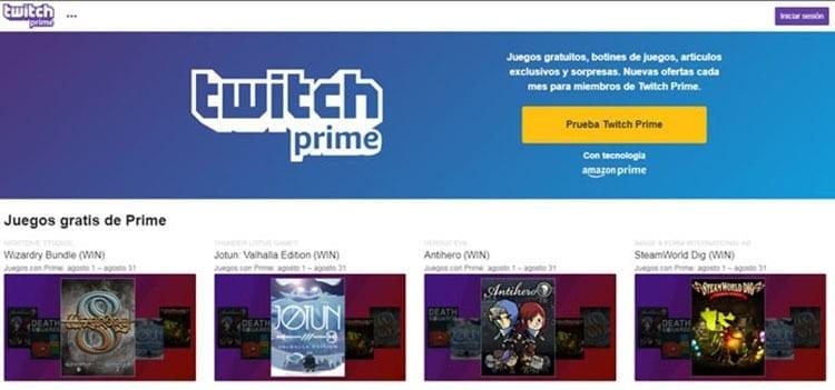 Ventajas de Prime: Twitch Prime