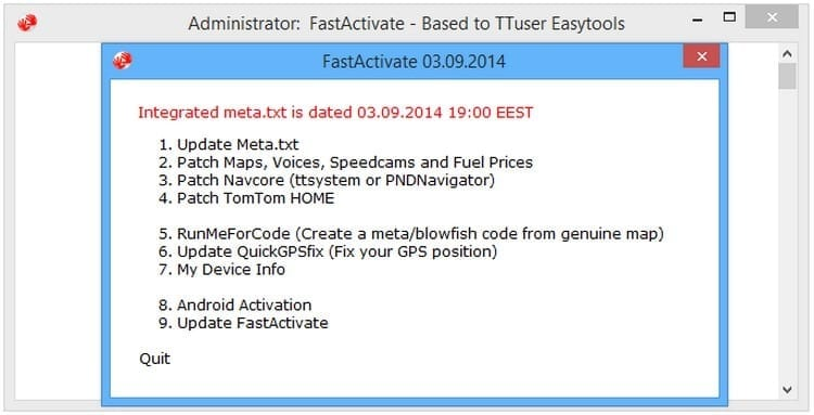 Activa los mapas de tu TomTom con Fastactivate