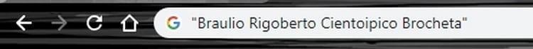 google nombre comillas
