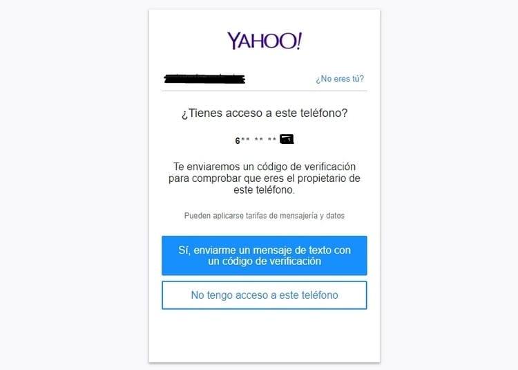 Teléfono yahoo.com