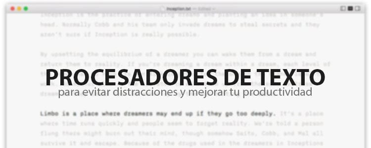 Procesadores de texto minimalistas