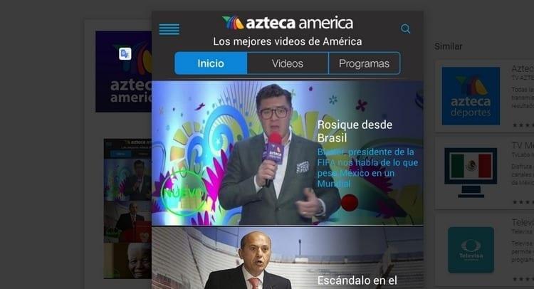 Azteca América para smartphone y Tablet