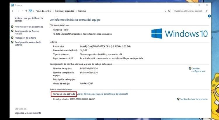 Comprobar el estado de la licencia de Windows