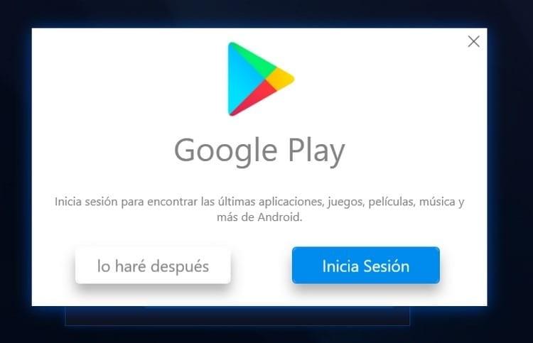 iniciar sesión en Google Play BlueStacks