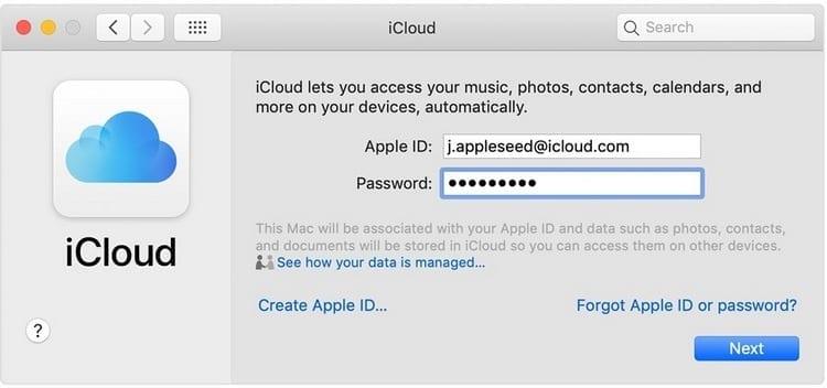iniciar sesión iCloud Mac