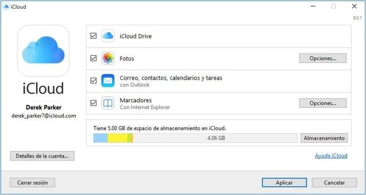 iniciar sesión iCloud Windows