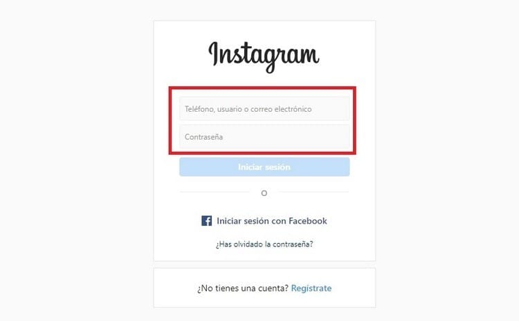 iniciar sesión Instagram con una cuenta