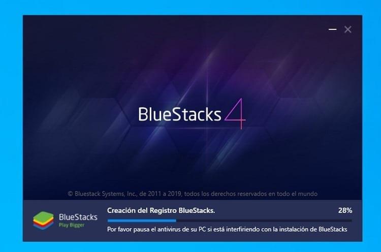 instalación de BlueStacks