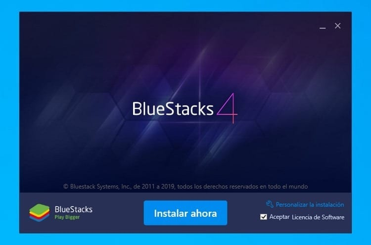 instalar BlueStacks