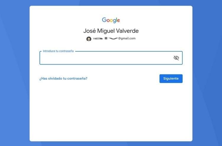 introducir contraseña Gmail BlueStacks