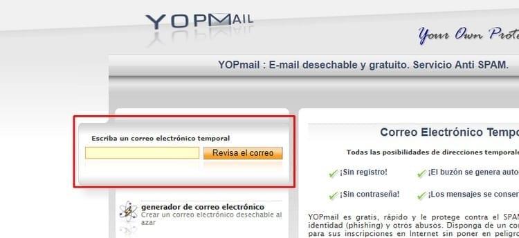 nueva cuenta de correo YOPmail