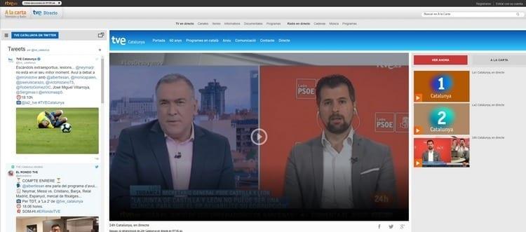 Página oficial de 24h Cataluña por Internet