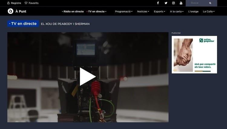 Página oficial de Á Punt por Internet