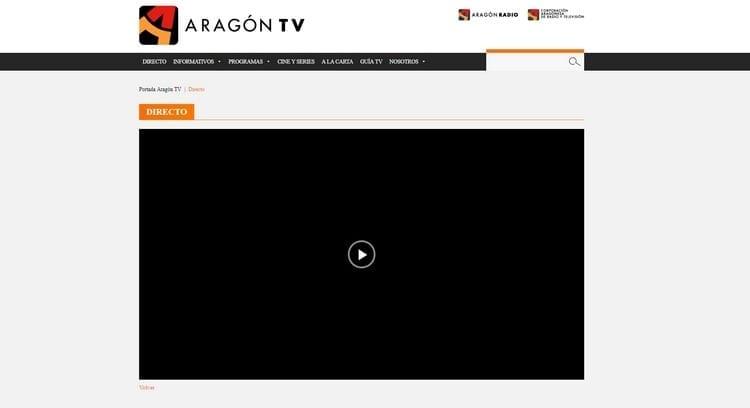 Página oficial de Aragón TV por Internet