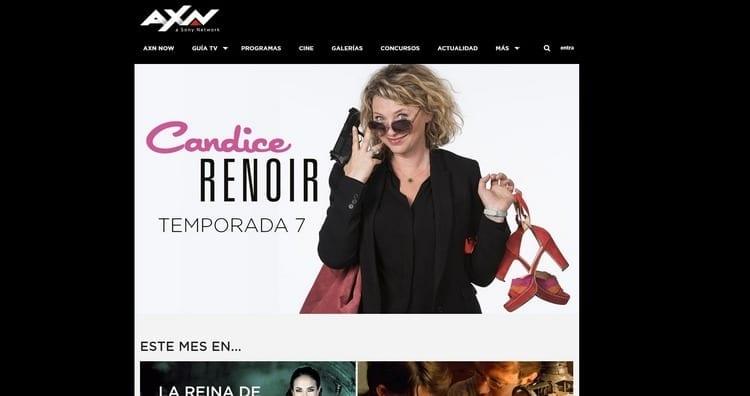 Página oficial de AXN por Internet