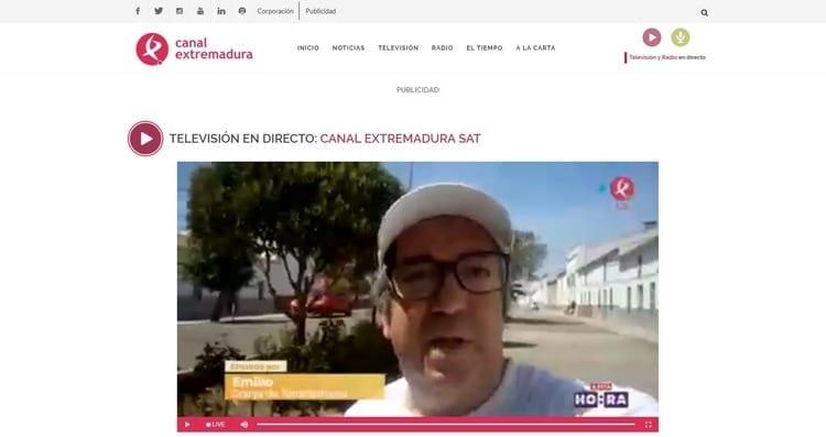 Página oficial de Canal Extremadura por Internet
