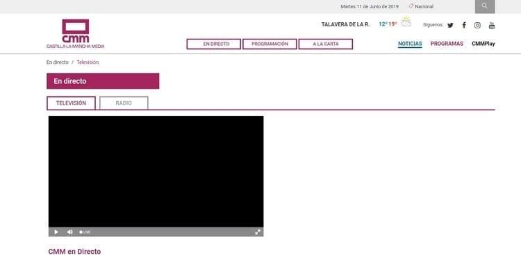 Página oficial de CMM por Internet