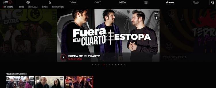 Página oficial de Flooxer por Internet