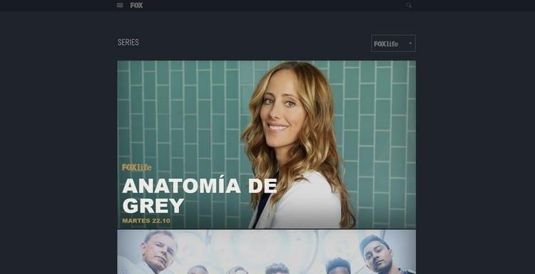 Página oficial de Fox Life por Internet