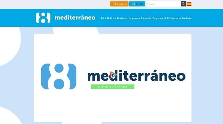 Página oficial de La 8 Mediterráneo por Internet