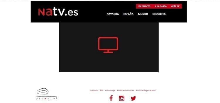 Página oficial de Navarra Televisión por Internet