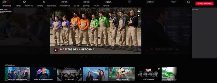 Página oficial de Neox por Internet
