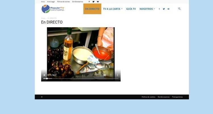 Página oficial de Popular TV Cantabria por Internet