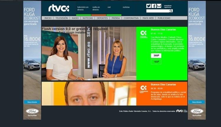 Página oficial de R-TVC Televisión por Internet