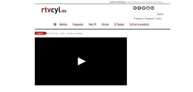 Página oficial de R-TVCyL Televisión por Internet