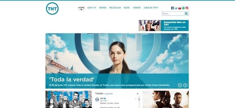 Página oficial de TNT por Internet