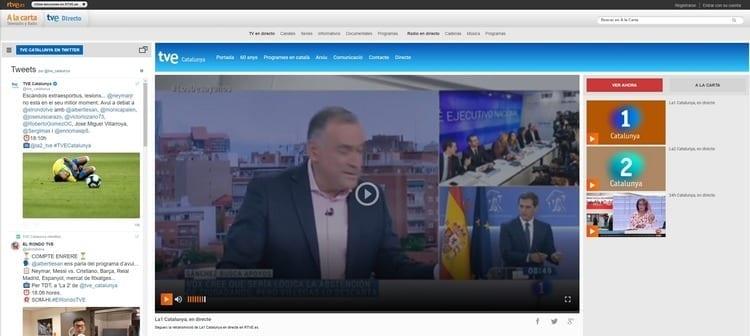 Página oficial de TVE Cataluña por Internet