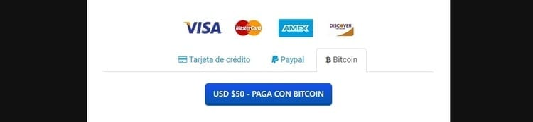 ventana pago bitcoin