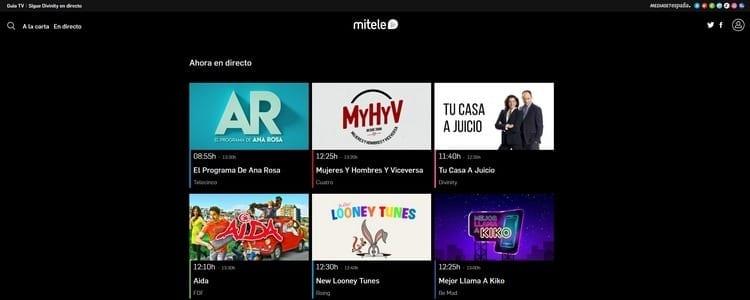 Ver televisión online en Mi Tele Online