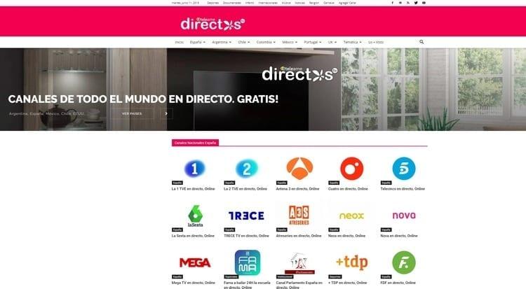 Ver televisión online en Teleame Directos