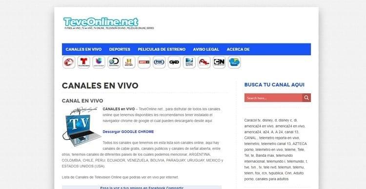 Ver televisión online en Teveonline