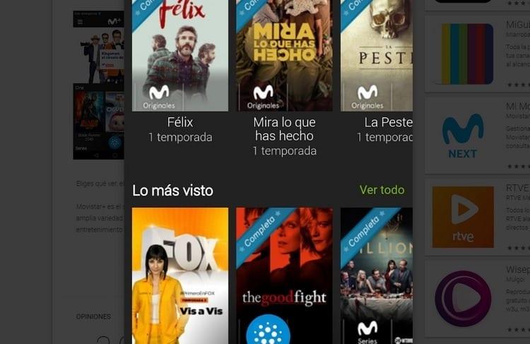 Yomvi Movistar+ para smartphone y Tablet