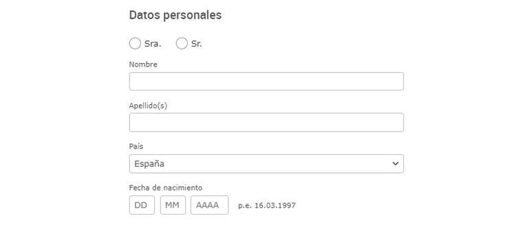 datos personales correo de gmx