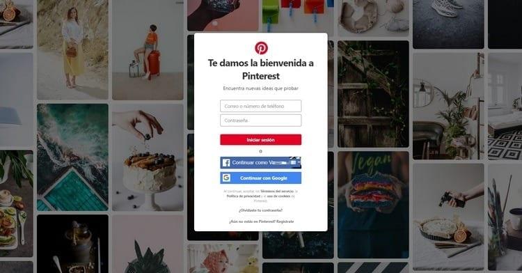 Iniciar sesión en Pinterest