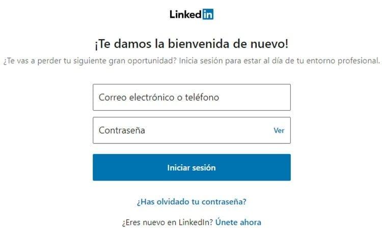 Cambiar contraseña de LinkedIn