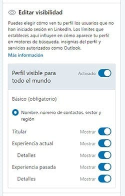 Perfil público LinkedIn