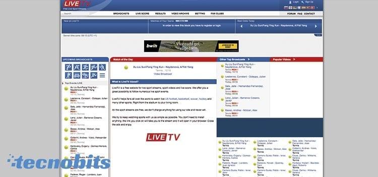 Liveru.sx una plataforma alternativas a ArenaVision