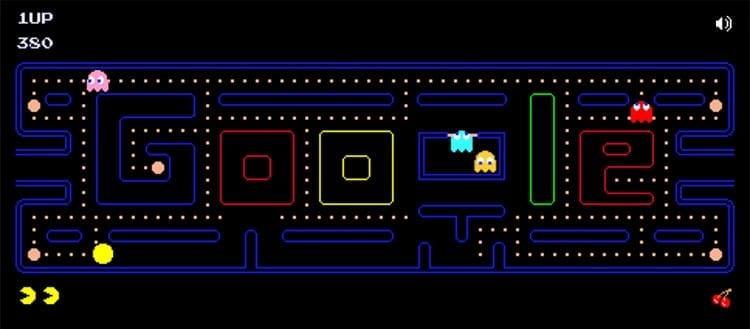 Pacman Doodle Google
